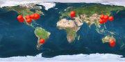 dünya haritası sayacı vurur